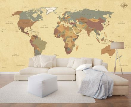 Wall mural wallpaper Old Map of the World